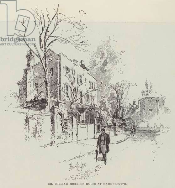 Mr William Morris's House at Hammersmith (engraving)