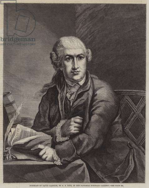 Portrait of David Garrick (engraving)