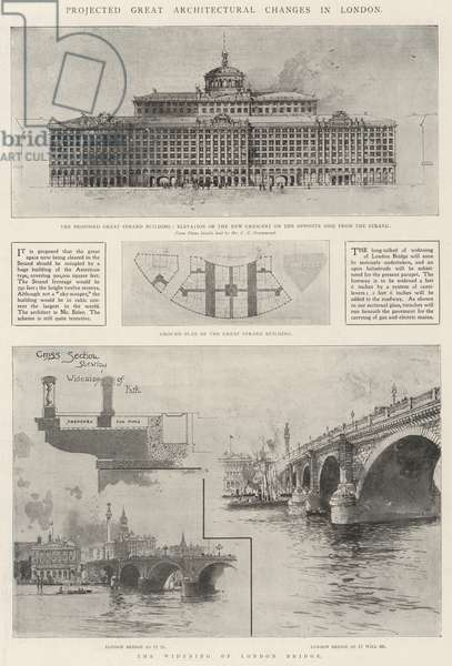 Projected Great Architectural Changes in London (engraving)