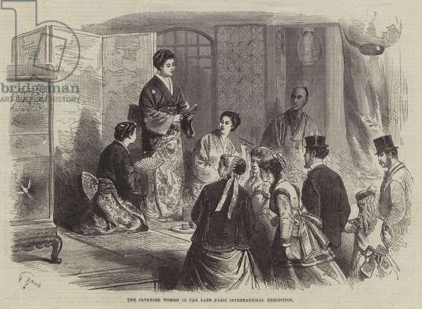 The Japanese Women in the late Paris International Exhibition (engraving)