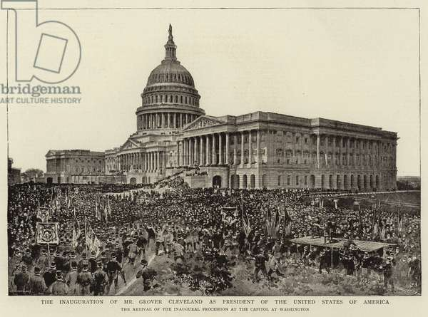 The Inauguration of Mr Grover Cleveland as President of the United States of America (b/w photo)
