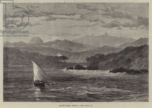 Adam's Peak, Ceylon (engraving)
