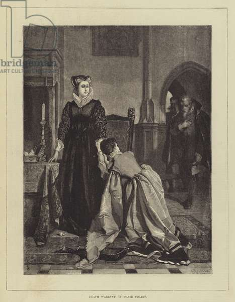 Death Warrant of Marie Stuart (engraving)