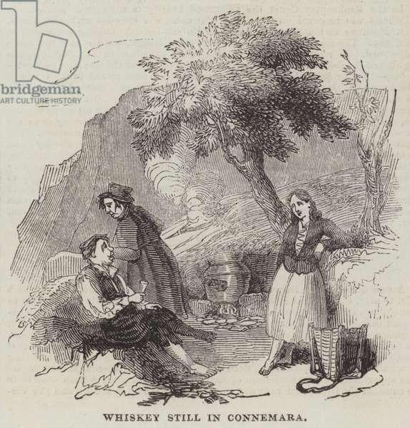 Whiskey Still in Connemara (engraving)