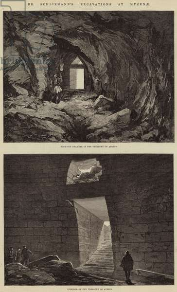 Dr Schliemann's Excavations at Mycenae (engraving)