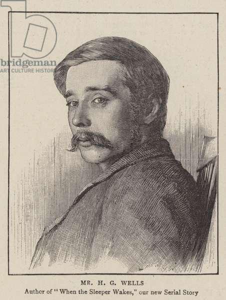 Mr H G Wells (engraving)