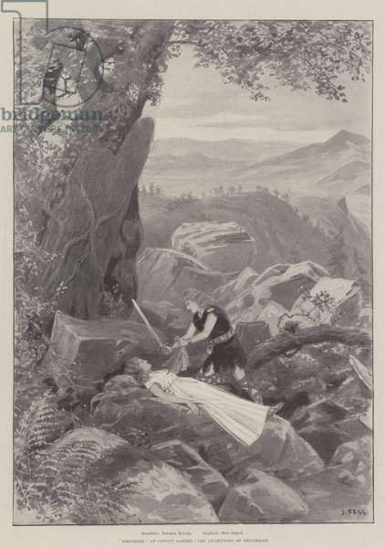 """Siegfried"" at Covent Garden, the Awakening of Brunhilde (litho)"