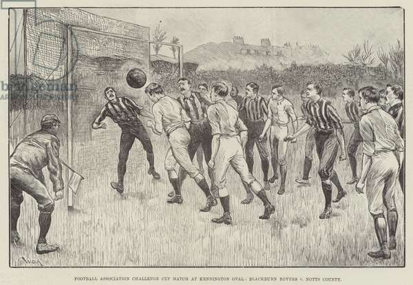 Football Association Challenge Cup Match at Kennington Oval, Blackburn Rovers v Notts County (engraving)