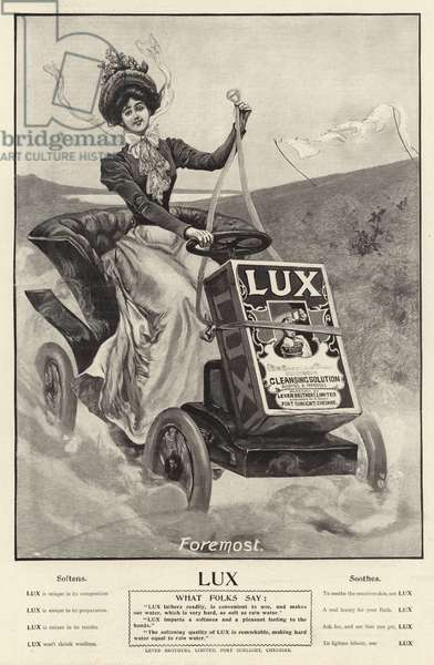 Advertisement, Lux (engraving)