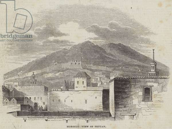 Morocco, View of Tetuan (engraving)