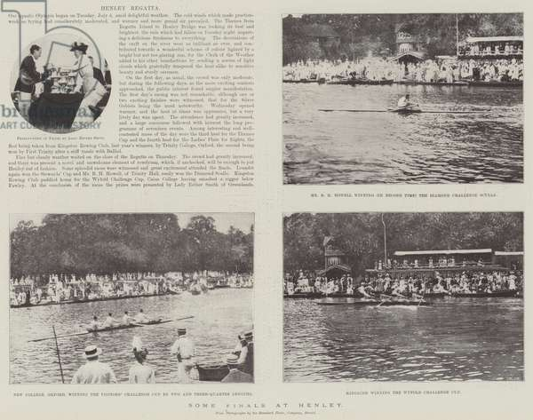 Some Finals at Henley (b/w photo)