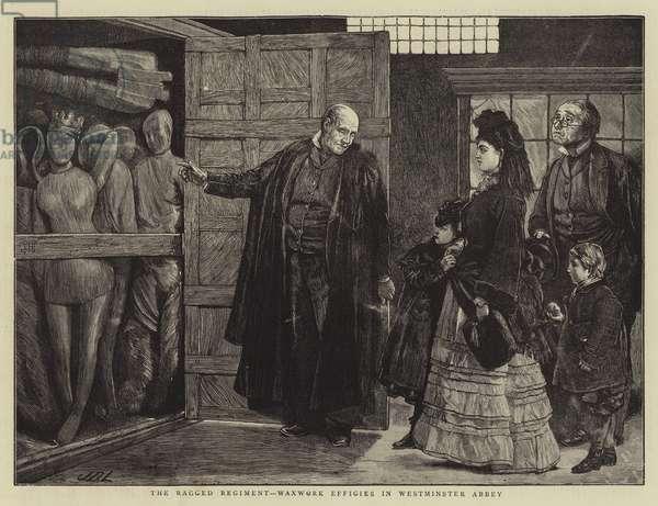 The Ragged Regiment, Waxwork Effigies in Westminster Abbey (engraving)