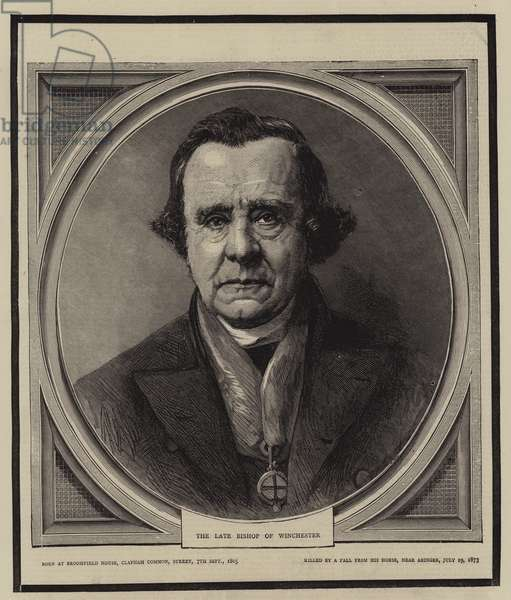 The Late Bishop of Winchester (engraving)