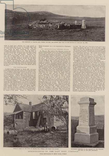 Reminiscences of the Last Boer Campaign (b/w photo)