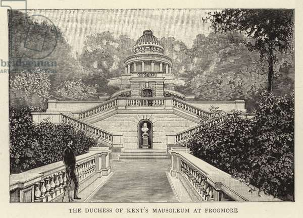 The Duchess of Kent's Mausoleum at Frogmore (engraving)