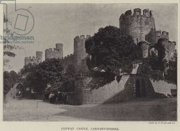 Conway Castle, Carnarvonshire (b/w photo)