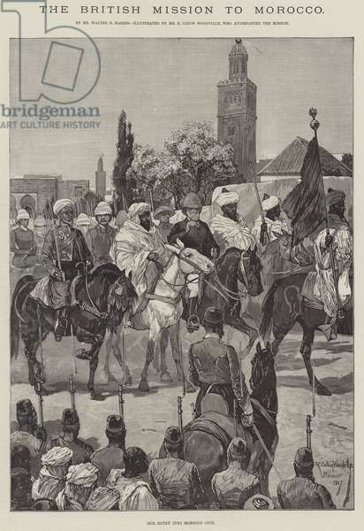 The British Mission to Morocco (engraving)