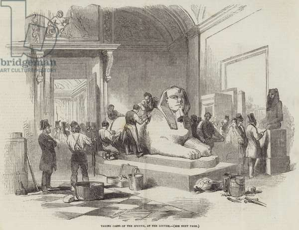 Taking Casts of the Sphynx, at the Louvre (engraving)