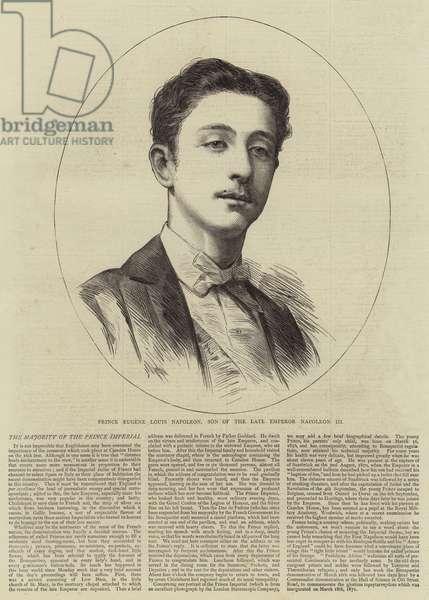 Prince Eugene Louis Napoleon, Son of the Late Emperor Napoleon III (engraving)