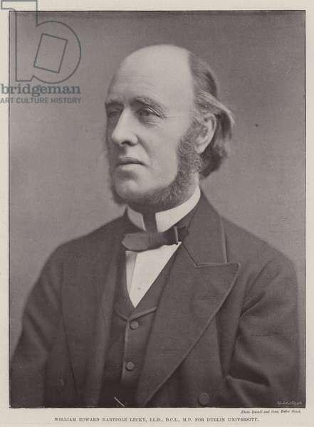 William Edward Hartpole Lecky, LLD, DCL, MP, for Dublin University (b/w photo)