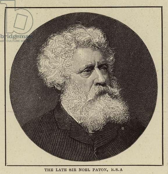 The Late Sir Noel Paton, RSA (engraving)
