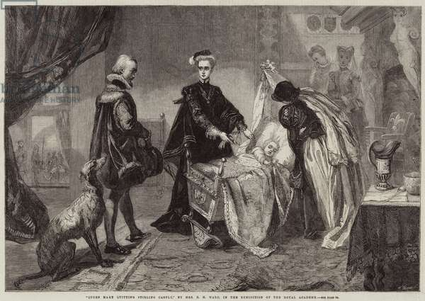 Queen Mary quitting Stirling Castle (engraving)