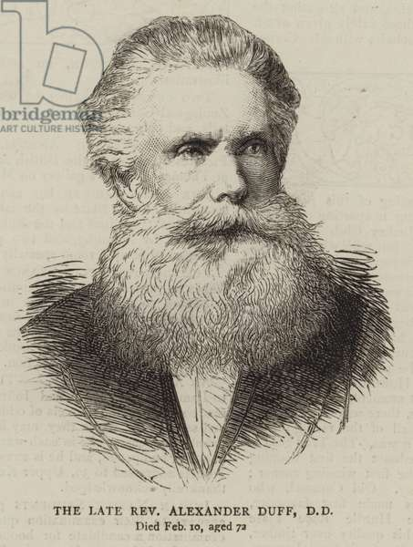 The Late Reverend Alexander Duff, DD (engraving)