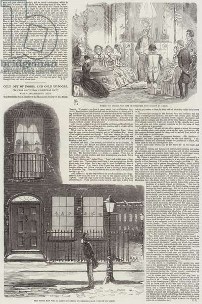 """Cold out of Doors, and Cold In-Doors, or """"Tom Smithers's Christmas Day"""" (engraving)"""