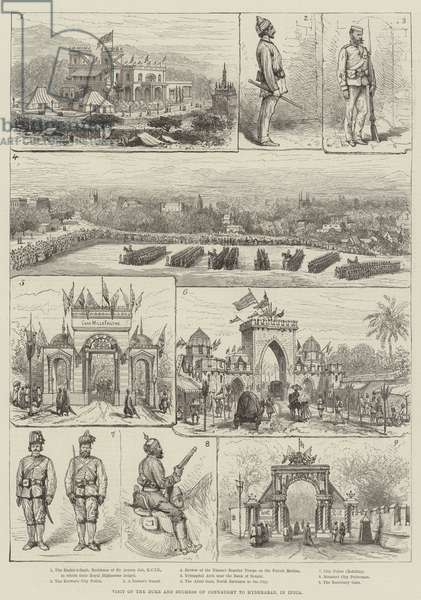 Visit of the Duke and Duchess of Connaught to Hyderabad, in India (engraving)