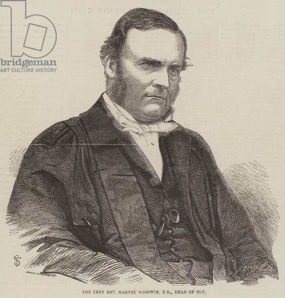 The Very Reverend Harvey Goodwin, DD, Dean of Ely (engraving)