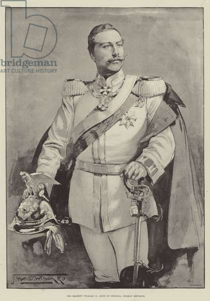 His Majesty William II, King of Prussia, German Emperor (litho)