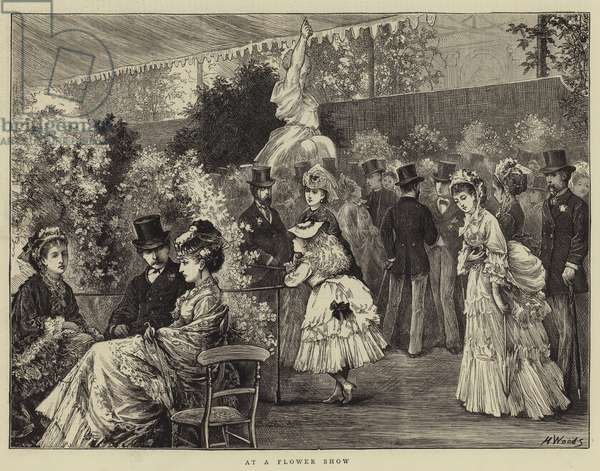 At a Flower Show (engraving)