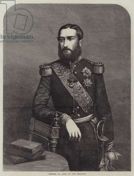 Leopold II, King of the Belgians (engraving)
