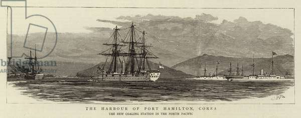 The Harbour of Port Hamilton, Corea, the New Coaling Station in the North Pacific (engraving)
