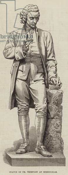 Statue of Dr Priestley at Birmingham (engraving)