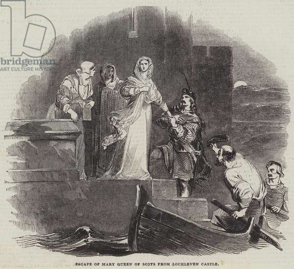 Escape of Mary Queen of Scots from Lochleven Castle (engraving)