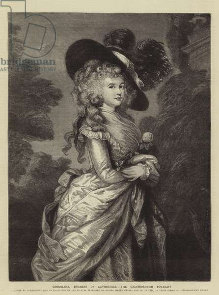 Georgiana, Duchess of Devonshire, the Gainsborough Portrait (engraving)