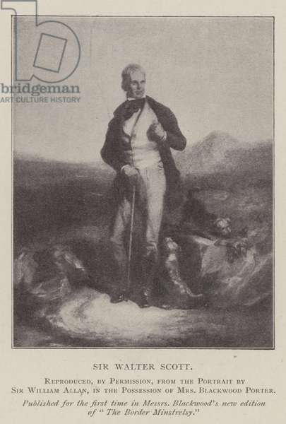 Sir Walter Scott (litho)