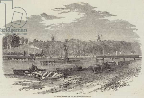 Rye Swing-Bridge, on the South-Eastern Railway (engraving)