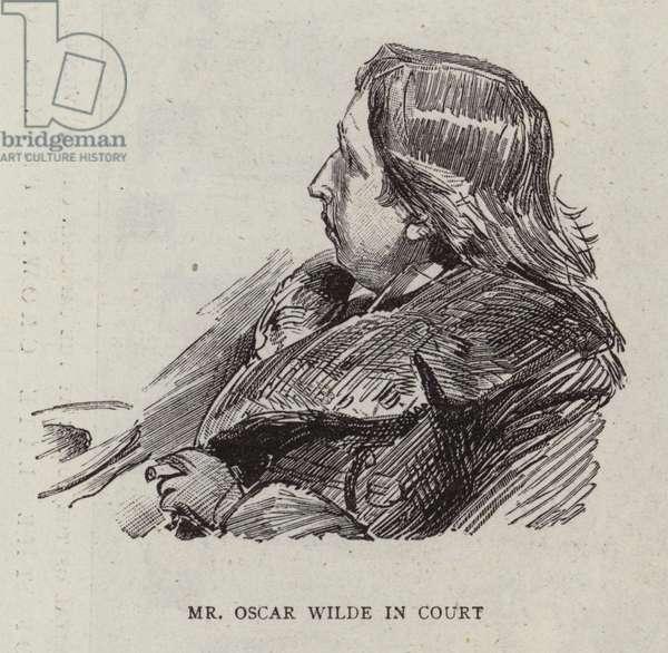 Mr Oscar Wilde in Court (engraving)