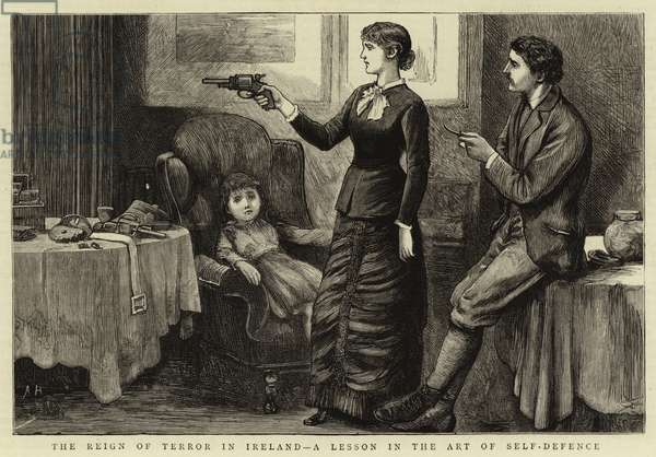 The Reign of Terror in Ireland, a Lesson in the Art of Self-Defence (engraving)