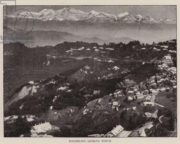 Picturesque Darjeeling (b/w photo)