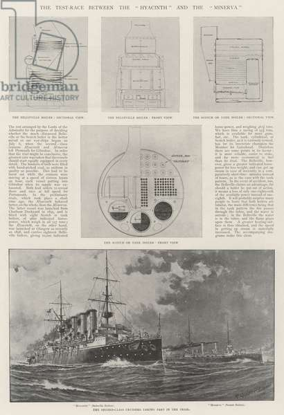 """The Test-Race between the """"Hyacinth"""" and the """"Minerva"""" (litho)"""