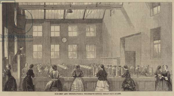 Electric and International Telegraph Office, Great Bell-Alley (engraving)