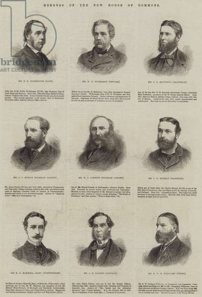 Members of the New House of Commons (engraving)