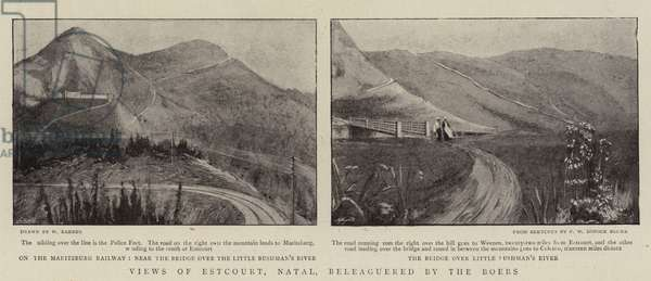 Views of Estcourt, Natal, beleaguered by the Boers (b/w photo)