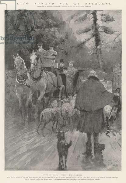 King Edward VII at Balmoral (engraving)