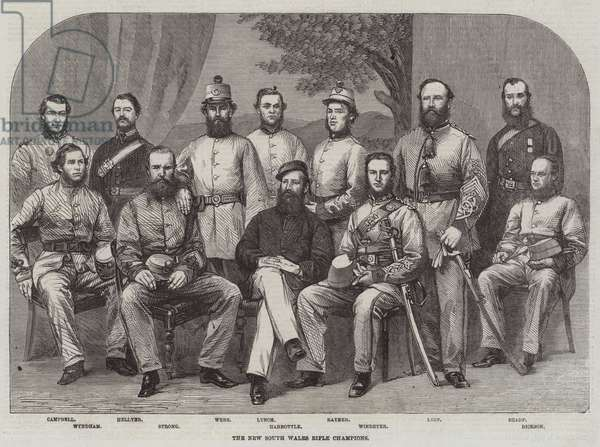 The New South Wales Rifle Champions (engraving)