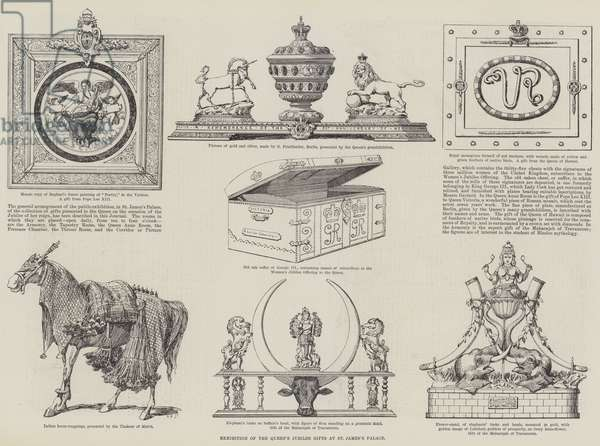 Exhibition of the Queen's Jubilee Gifts at St James's Palace (engraving)