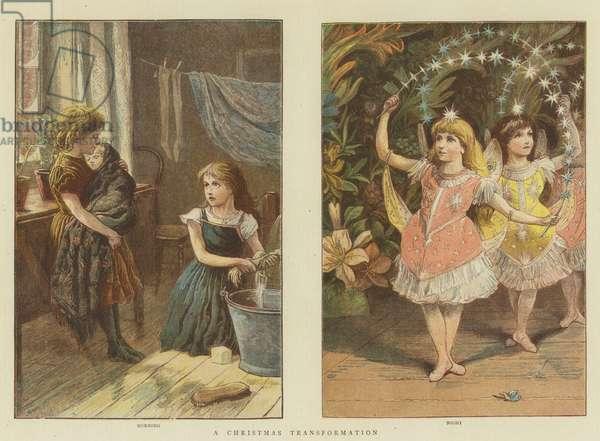 A Christmas Transformation (chromolitho)